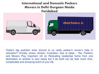 Delhi gurgaon faridabad packer and movers