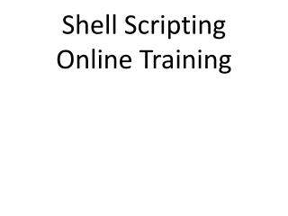 shell scripting Online Training
