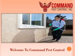 Welcome to Command Pest Control
