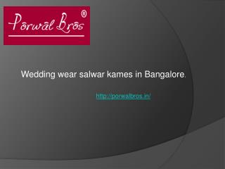 : Buy designer suits in India.