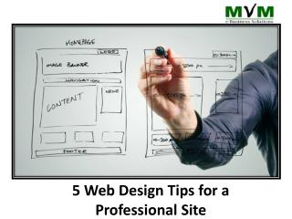 5 web design tips for a proffesional website