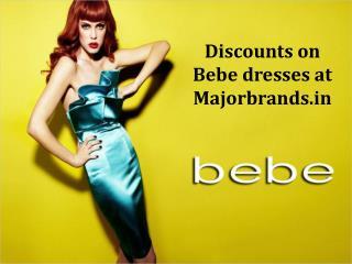 Discounts on Bebe dresses at Majorbrands