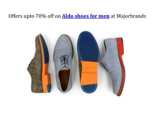 Offers upto 70% off on Aldo shoes for men at Majorbrands