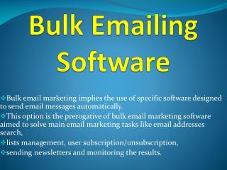 Bulk Emailing Software
