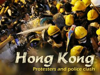 Hong Kong protesters and police clash