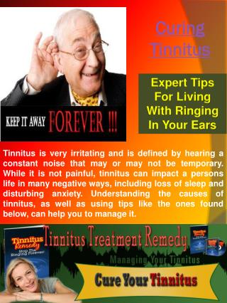 Cures For Tinnitus