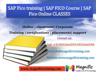 SAP FICO ONLINE TRAINING IN UK
