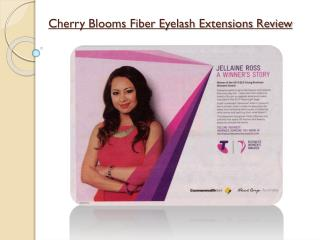 Cherry Blooms Fiber Eyelash Extensions Review