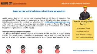 Kansas City Garage Door Experts