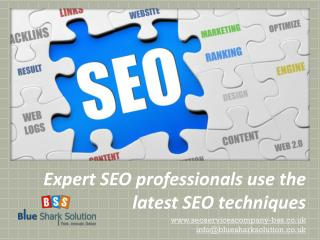 Expert SEO professionals use the latest SEO techniques: