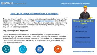 Minneapolis Garage Door Experts at Your Service