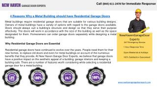 Broken Garage Door Springs Experts - New Haven, CT