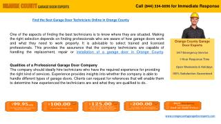 Orange County Garage Door Experts at Your Service!