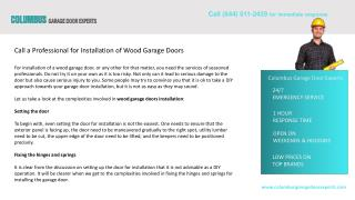 Call a Professional for Installation of Wood Garage Doors