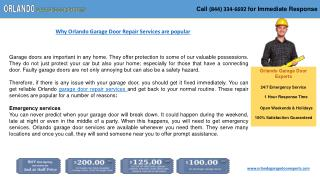 Orlando Garage Door Experts at Your Service!