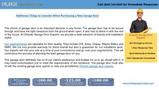 Get Easily Garage Door Installation Services - Orlando, FL