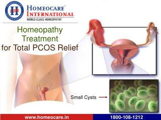 Get Safe Homeopathy Treatment for PCOS cure