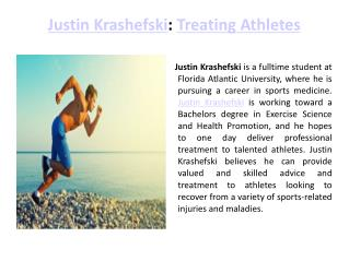 Justin Krashefski Treating Athlet