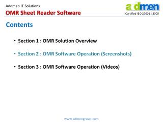 OMR Sheet Reader Software