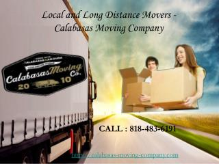 Local and Long Distance Movers - Calabasas Moving Company