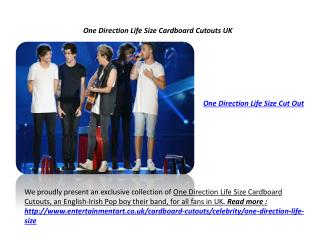 One Direction Cardboard Cutouts UK