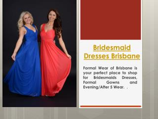 Formal Dress Shops Brisbane