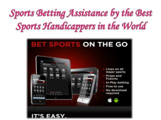 Sports Betting Assistance by the Best Sports Handicappers