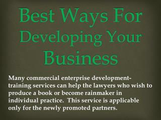 Best Ways For Developing Your Business