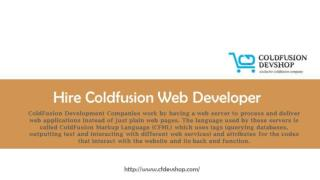�Hire Coldfusion Web Developer