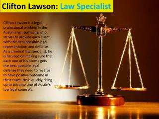 Clifton Lawson: Law Specialist