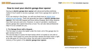 24/7 Emergency Garage Door Service In San Diego