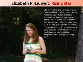 Elizabeth Plitzuweit: Rising Star