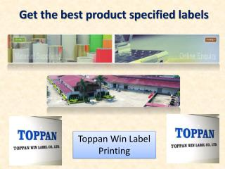 Get the best product specified labels