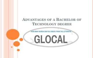 Advantages of a bachelor of technology degree