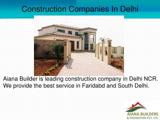 Construction Companies In Delhi