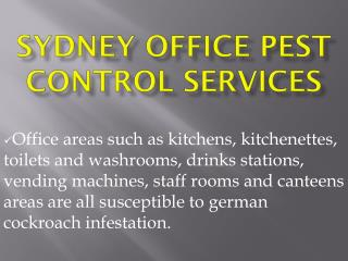 Sydney Office Pest Control Services