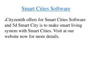 Smart Cities Software