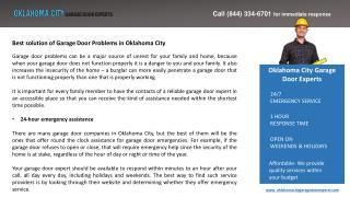 Best solution of Garage Door Problems in Oklahoma City