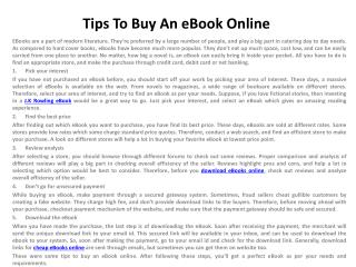 Tips To Buy An eBook Online