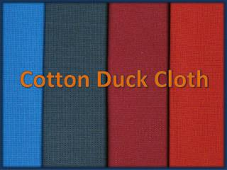 Cotton Duck Fabric Wholesale