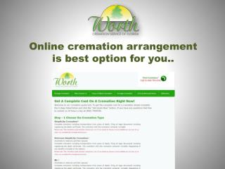 online cremation arrangement