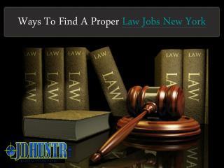 Law Jobs New York