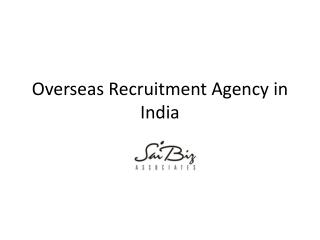 Overseas Recruitment Agencies in Delhi