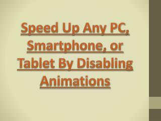 Most Effective Way To Speed Up Your Devices