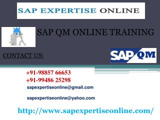 sap qm online training classes in india