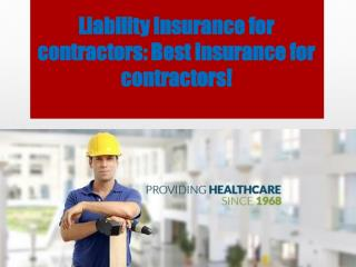 Liability Insurance for contractors: Best insurance for cont