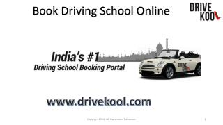 Drivekool, Online Driving School Booking Site
