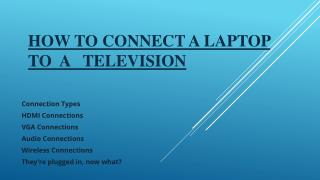 Connect a Laptop to a Television