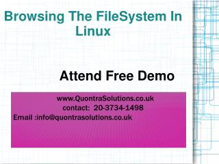 Linux FileSystem Online Training By QuontraSolutions