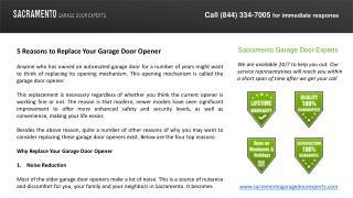 5 Reasons to Replace Your Garage Door Opener